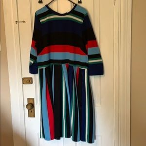 Eloquii striped sweater dress